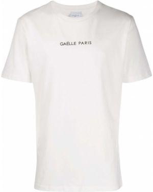 Хлопковая футболка - белая Gaelle Bonheur