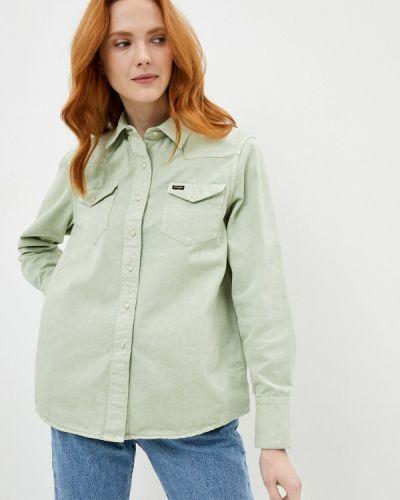 Зеленая джинсовая рубашка с длинными рукавами Wrangler