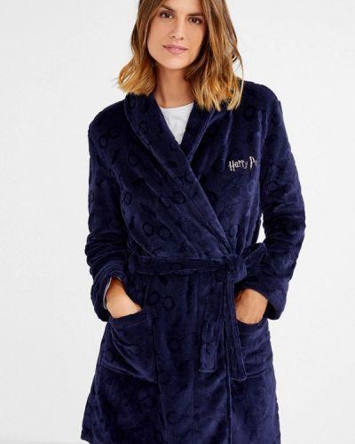 Синий халат домашний Women'secret
