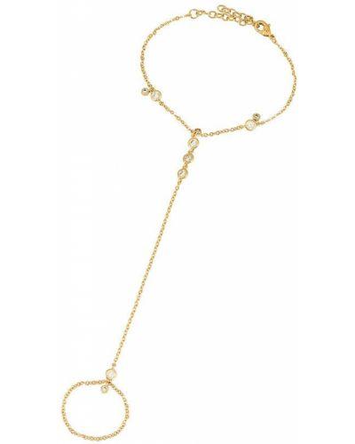 Biały złoty łańcuszek z cyrkoniami Lili Claspe