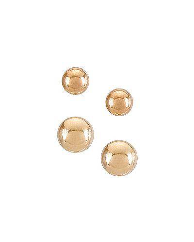 Маникюрный набор металлический золотой в цветочный принт Natalie B Jewelry