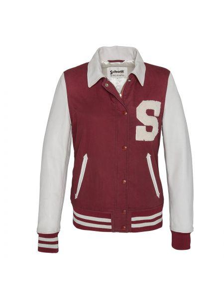 Кожаная куртка укороченная хлопковая Schott
