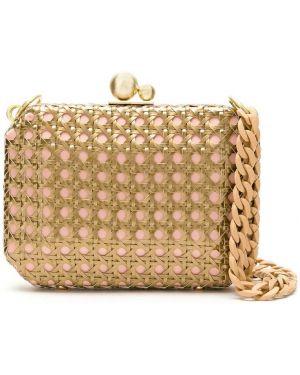 Розовая соломенная сумка Isla