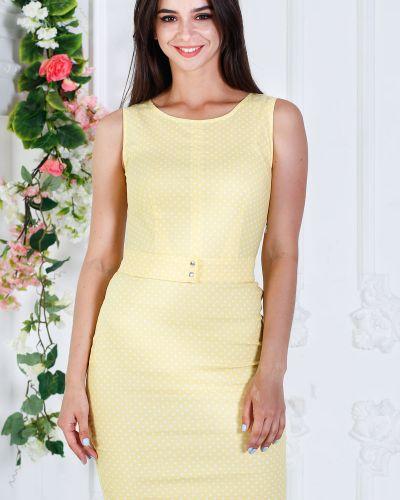 Джинсовое платье в горошек платье-сарафан азалия