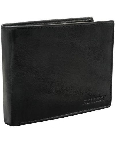 Czarny portfel skórzany Rovicky