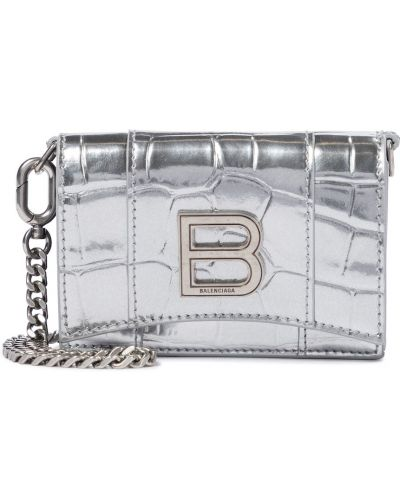 Kopertówka srebrna Balenciaga