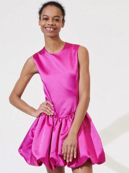 Вечернее платье розовое весеннее Maje