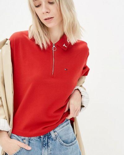 Красное поло Tommy Jeans