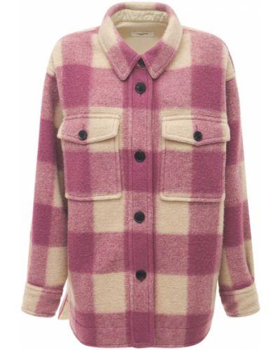 Розовая куртка с вышивкой с карманами Isabel Marant étoile
