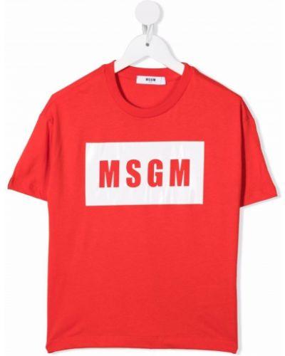 Koszulka z printem Msgm Kids