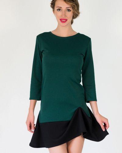 Платье осеннее зеленый Подіум