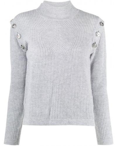 Шерстяной серый джемпер с длинными рукавами Max & Moi