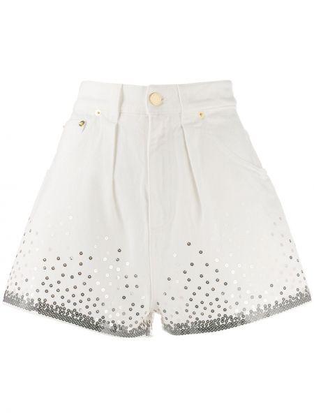 Белые шорты с карманами на пуговицах Alberta Ferretti