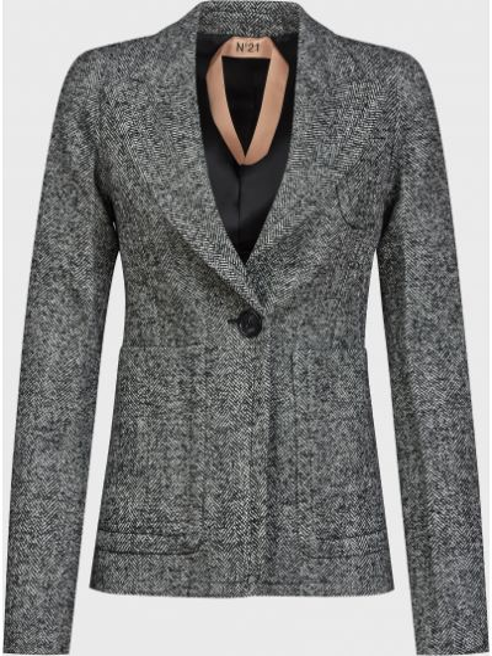 Шерстяной серый пиджак на пуговицах N°21