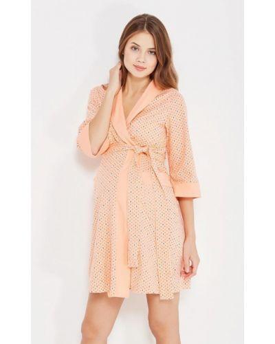 Оранжевый домашний халат Hunny Mammy