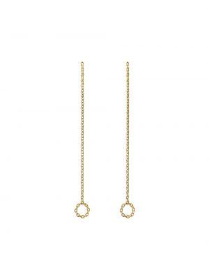 Золотые серьги с подвесками Shihara