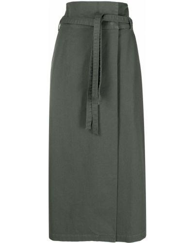 Хлопковая зеленая юбка с поясом Federica Tosi