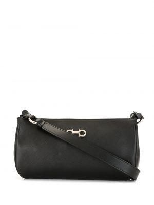 Черная сумка на плечо с пряжкой на молнии с подкладкой Salvatore Ferragamo Pre-owned