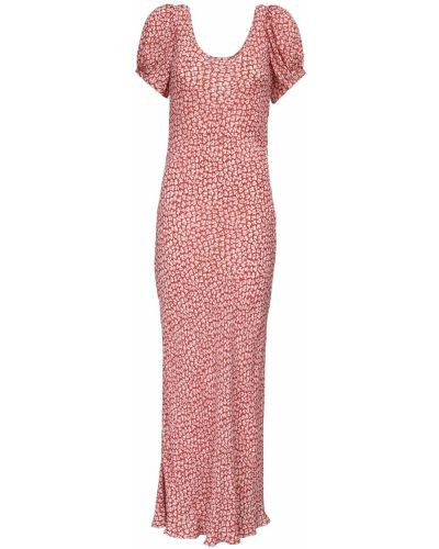 Sukienka z wiskozy z printem Rixo