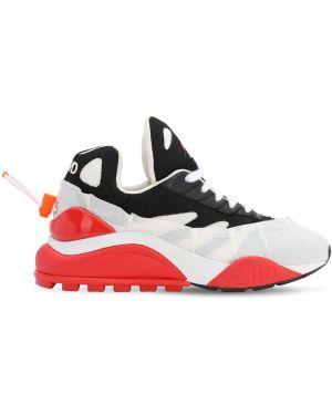 Białe sneakersy z nylonu z siateczką F_wd
