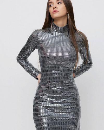 Серебряное вечернее платье Cardo