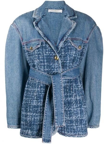 Джинсовая куртка с карманами синий Philosophy Di Lorenzo Serafini