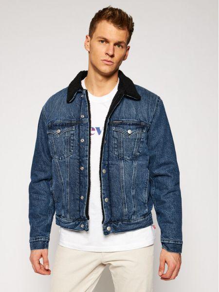 Kurtka jeansowa - granatowa Calvin Klein Jeans