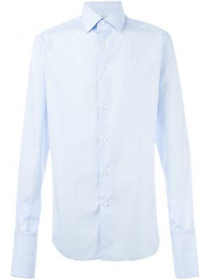 Хлопковая синяя рубашка Fashion Clinic Timeless
