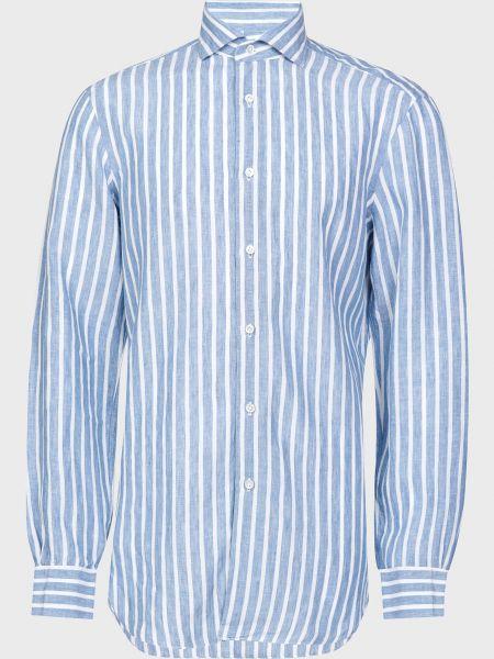 Рубашка на пуговицах - белая Barba Napoli