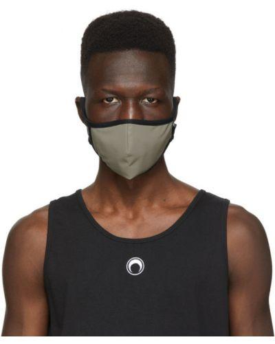 Трикотажная черная маска для лица стрейч Marine Serre