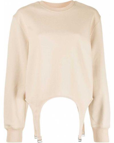Bawełna sweter z okrągłym dekoltem z długimi rękawami z mankietami Dion Lee