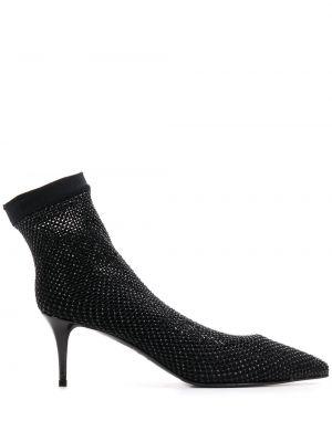 Кожаные черные спортивные носки без застежки Le Silla