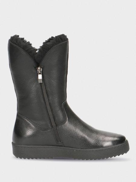 Кожаные сапоги - черные Caprice
