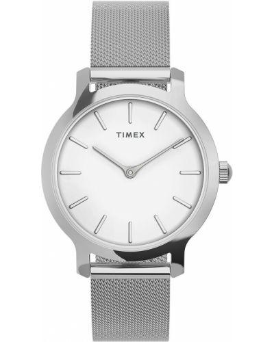 Biały zegarek kwarcowy Timex