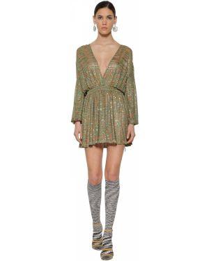 Платье с поясом с пайетками с вышивкой Missoni