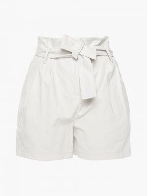 Белые кожаные шорты с карманами Ba&sh