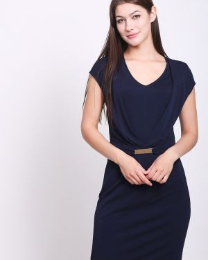 Платье из вискозы - синее Apanage