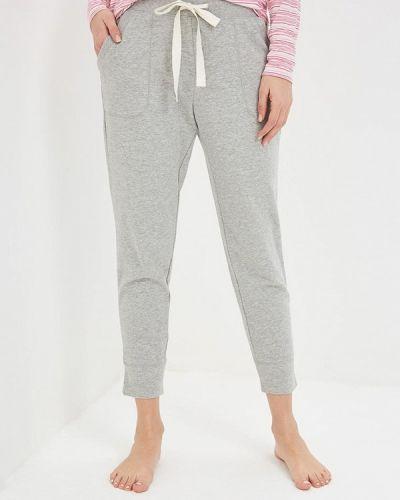 Серые брюки домашние Gap