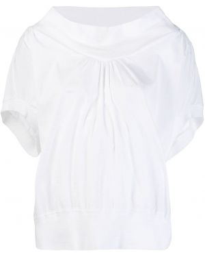 Блузка белая в рубчик Tsumori Chisato
