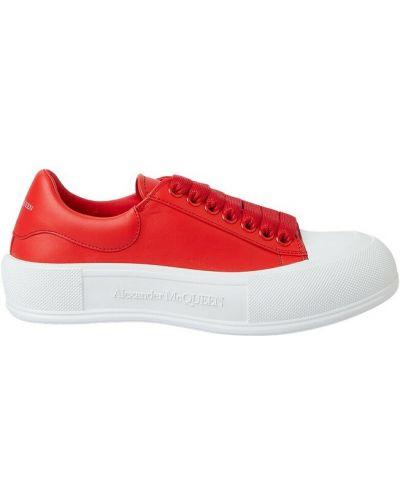 Buty sportowe skorzane - czerwone Alexander Mcqueen