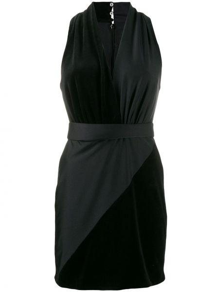 Платье с V-образным вырезом с вырезом Fausto Puglisi
