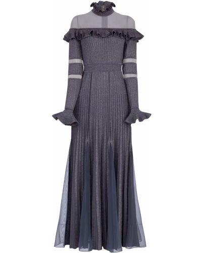 Вечернее платье с оборками трикотажное Elie Saab