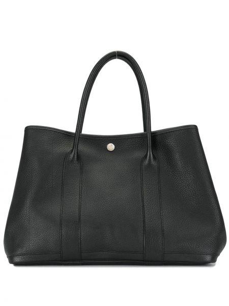 Сумка-тоут с ручками черная Hermès
