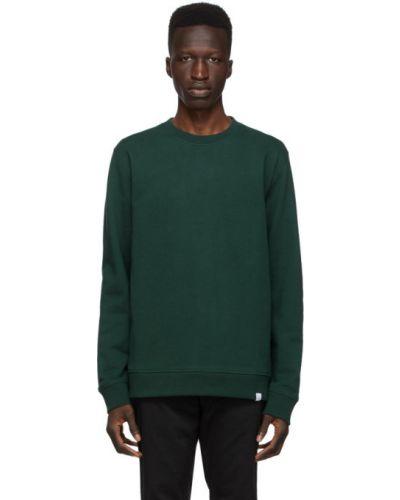 Zielony bluza z długimi rękawami z kołnierzem z mankietami Norse Projects