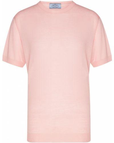 Джемпер с короткими рукавами - розовый Prada