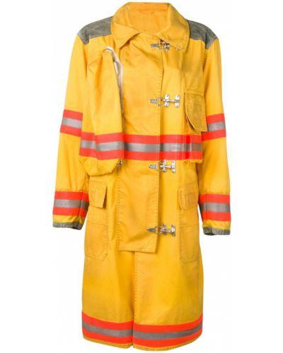 Желтое пальто с капюшоном Calvin Klein 205w39nyc