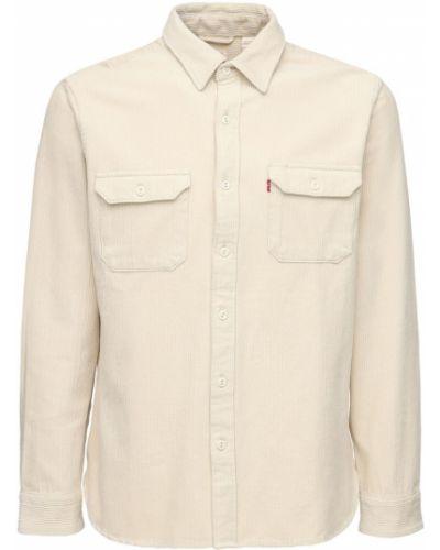 Beżowa koszula bawełniana Levi's Red Tab