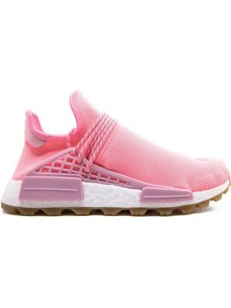 Różowe sneakersy sznurowane z nylonu Adidas By Pharrell Williams