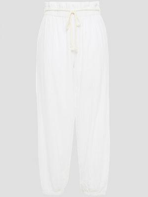 Białe spodnie bawełniane Onia