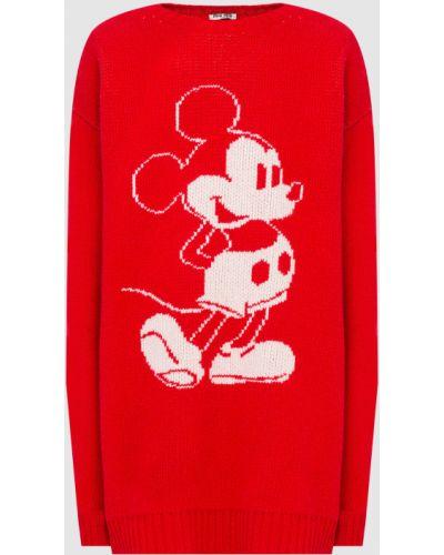 Красная шерстяная свитер Miu Miu